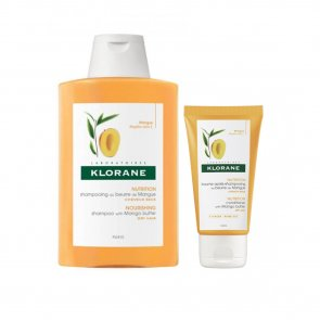 PROMOTIONAL PACK: Klorane Nourishing Shampoo with Mango Butter 400ml + Balm 50ml