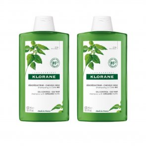 PROMOTIONAL PACK: Klorane Oil Control Shampoo with Nettle 400ml x2