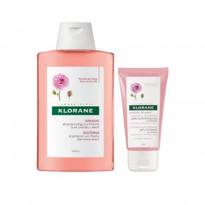 PROMOTIONAL PACK: Klorane Soothing & Anti-Irritating Shampoo Peony 400ml + Gel 50ml