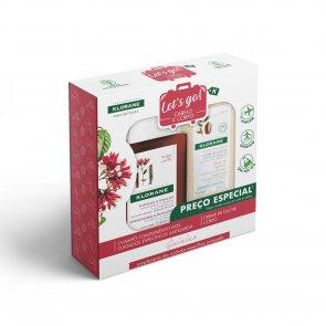 COFFRET: Klorane Strengthening Shampoo 100ml + Cupuaçu Flower Shower Gel 75ml
