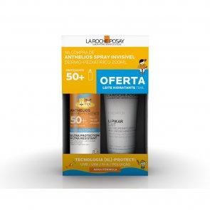 PROMOTIONAL PACK: La Roche-Posay Anthelios Kids Spray SPF50+ 200ml + Lipikar Milk 75ml