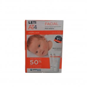 PROMOTIONAL PACK: LETI AT4 Atopic Skin Facial Cream 50ml x2