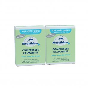 PROMOTIONAL PACK: Moustidose Soothing Towelettes After Bite Care 2x8