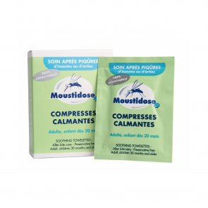 Moustidose Soothing Towelettes After Bite Care x8