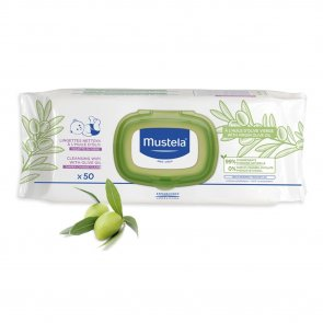 Mustela Baby Cleansing Wipes with Olive Oil x50