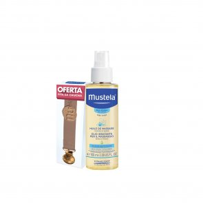 PROMOTIONAL PACK: Mustela Baby Massage Oil 100ml + Pacifier Pink Ribbon