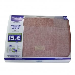 GIFT SET: Mustela Baby Wipes 70x2 + Diaper Cream 50ml + Pink Necessaire