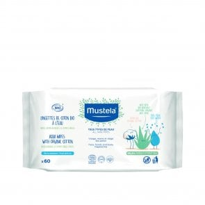 Mustela BIO Organic Cotton With Water Wipes x60