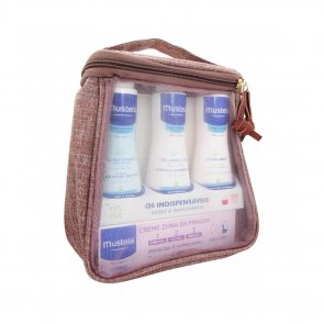 GIFT SET: Mustela Essential Kit 4 Products for Babies Newborns Travel Sizes PINK