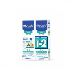 PROMOTIONAL PACK: Mustela Stelatopia Dry&Atopic Skin Emollient Face Cream 40ml x2