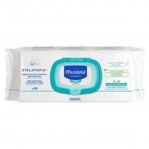 Mustela Stelatopia Replenishing Cleansing Wipes x50