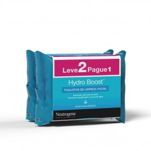 PACK PROMOCIONAL: Neutrogena Hydro Boost Cleanser Facial Wipes 2x25