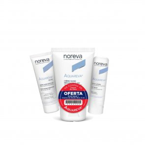 PROMOTIONAL PACK: Noreva Aquareva Hand Cream 50ml + Lip Balm 4g + Rich Cream 3ml