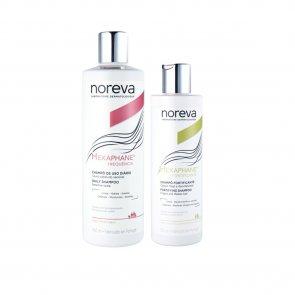 PACK PROMOCIONAL: Noreva Hexaphane Daily Shampoo 400ml + Fortifying Shampoo 250ml