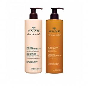 PACK PROMOCIONAL: NUXE Rêve de Miel Body Cream 400ml + Rich Cleansing Gel 400ml