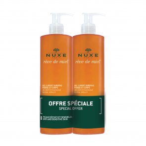 PROMOTIONAL PACK: NUXE Rêve de Miel Face and Body Ultra-Rich Cleansing Gel 400ml x2