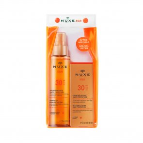 PACK PROMOCIONAL: NUXE Sun Tanning Oil SPF30 150 ml + Delicious Cream SPF30 50ml
