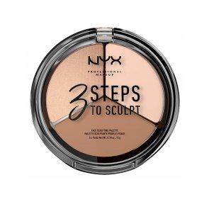 NYX Pro Makeup 3 Steps To Sculpt Face Sculpting Palette Fair