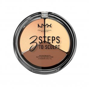 NYX Pro Makeup 3 Steps To Sculpt Face Sculpting Palette Light