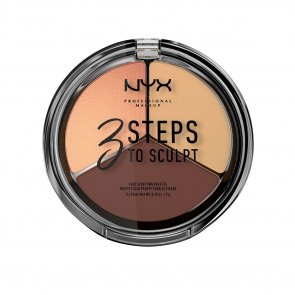 NYX Pro Makeup 3 Steps To Sculpt Face Sculpting Palette Medium
