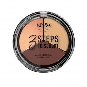 NYX Pro Makeup 3 Steps To Sculpt Face Sculpting Palette Medium