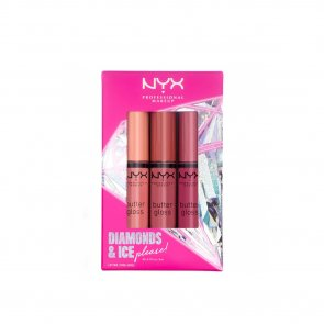 GIFT SET: NYX Pro Makeup Diamonds & Ice Please! Butter Gloss Lip Trio 01 3x8ml