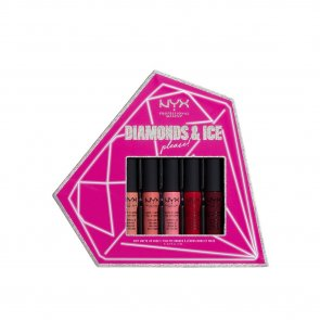 GIFT SET: NYX Pro Makeup Diamonds & Ice Please! Soft Matte Lip Vault 5x8ml