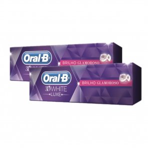 Oral-B 3D White Luxe Glamorous Shine Toothpaste Pack 2x75ml