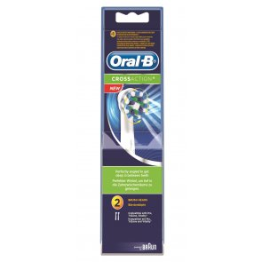 Oral-B Crossaction Replacement Head Electric Toothbrush x2