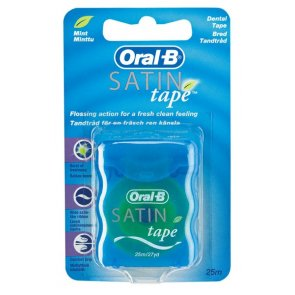 Oral-B Dental Floss Satin Tape Mint 25m