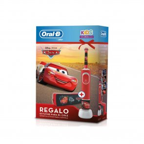 COFFRET: Oral-B Kids 3+ Years Electric Toothbrush Cars + School Case