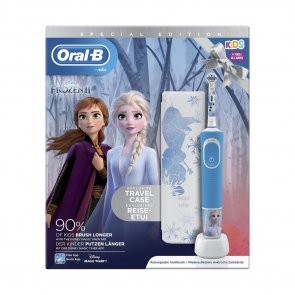 GIFT SET: Oral-B Kids 3+ Years Electric Toothbrush Frozen II + Travel Case