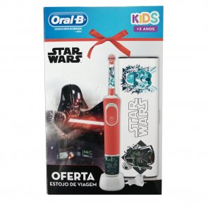 GIFT SET: Oral-B Kids 3+ Years Electric Toothbrush Star Wars + Travel Case