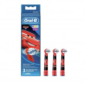 Oral-B Kids 3+ Years Replacement Head Electric Toothbrush Cars x3