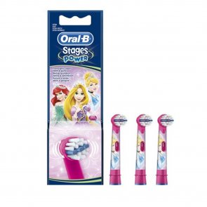 Oral-B Stages Power Replacement Head Electric Toothbrush Princesses x3