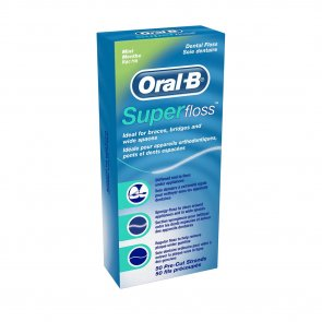 Oral-B Superfloss Mint 50 Pre-Cut Strands