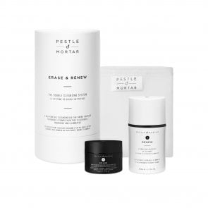 COFFRET: Pestle & Mortar Erase & Renew Double Cleansing System