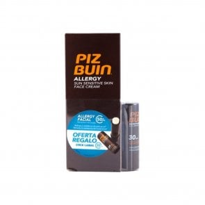 PROMOTIONAL PACK: Piz Buin Allergy Sun Sensitive Face Cream SPF50+ + Sun Lipstick SPF30