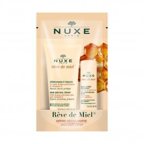 PROMOTIONAL PACK: NUXE Rêve de Miel Hand&Nail Cream 30ml + Lip Moisturizing Stick 4g