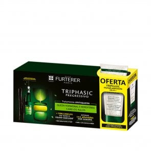 PROMOTIONAL PACK: René Furterer Triphasic Progressive Serum 8x5.5ml + Shampoo 100ml