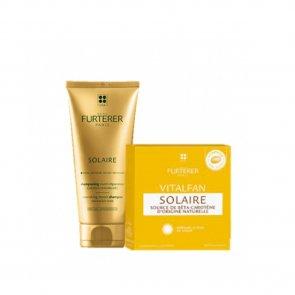 PROMOTIONAL PACK: René Furterer Vitalfan Solaire x30 + Solaire Repair Shampoo 50ml