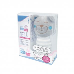 GIFT SET: Sebamed Baby Massage Oil 150ml + Bear Plushie