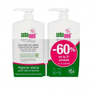 PROMOTIONAL PACK: Sebamed Emulsion Olive Face & Body Wash 750ml x2