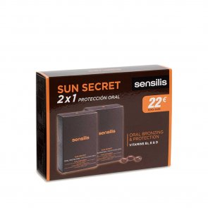 PROMOTIONAL PACK: Sensilis Sun Secret Oral Bronzing & Protection Capsules 2x30