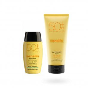 PACK PROMOCIONAL: Sensilis Sun Secret Water Fluid SPF50+ 40ml + Gel Cream SPF50+ 200ml