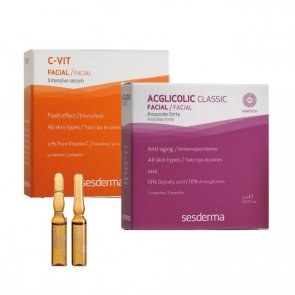 Sesderma Facial Flash Treatment Acglicolic + C-Vit 2x2ml