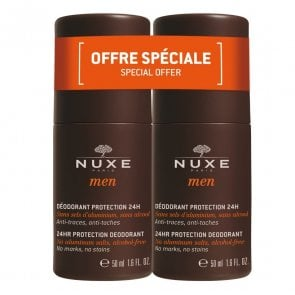 PROMOTIONAL PACK: NUXE Men 24h Protection Deodorant Roll-on x2