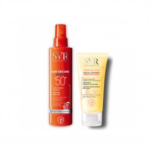 PACK PROMOCIONAL: SVR Sun Secure Spray SPF50+ 200ml + Topialyse Cleansing Oil 55ml