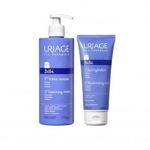 PROMOTIONAL PACK: Uriage Baby 1st Cleansing Cream 500ml + 1st Moisturizing Milk 200ml