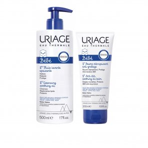 PROMOTIONAL PACK: Uriage Baby 1st Cleansing Soothing Oil 500ml + Oil Balm 200ml